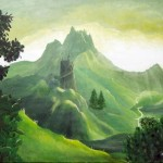 Blick ins mystische Land - Acryl (verkauft) - Dezember 2006