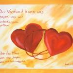 Zwei verbundene Herzen - Acryl (verkauft) - 22. November 2007