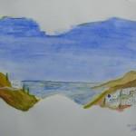 Ein Blick nach Griechenland - Aquarell - April 2007