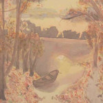 Herbsttag - Aquarell