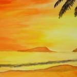 Sonnenuntergang - Acryl (verschenkt)